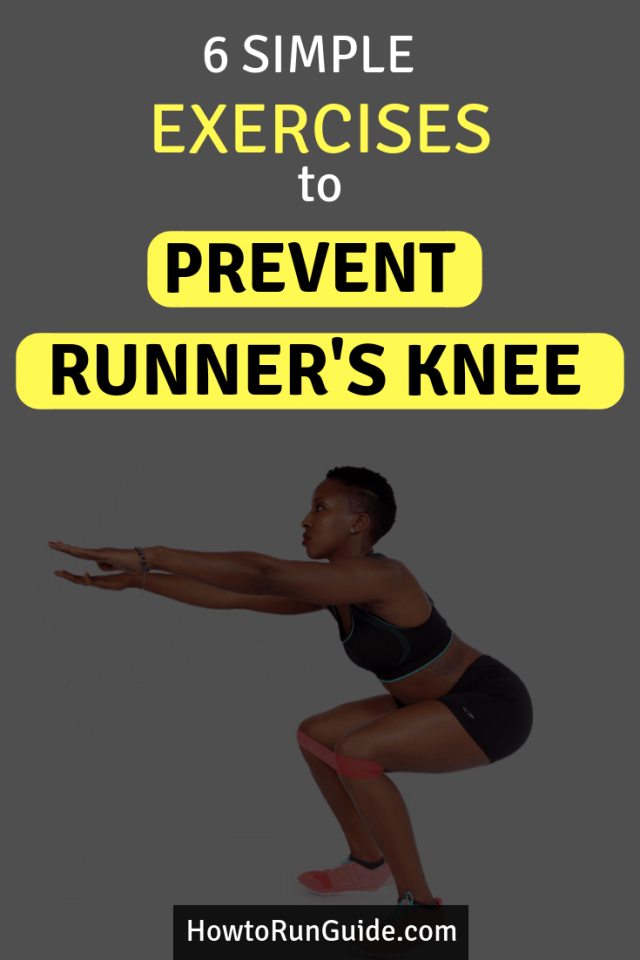 Did you know weak muscles often cause knee runner's knee? Prevent runner's knee from coming back with these simple body weight exercises to strengthen weak muscles that cause knee pain. #running #runningtips #strengthexercises
