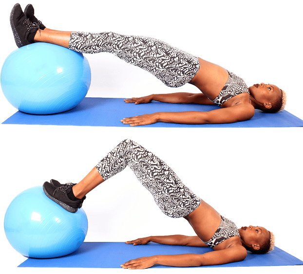 How to Prevent Runners Knee - Stability Ball Hamstring Move
