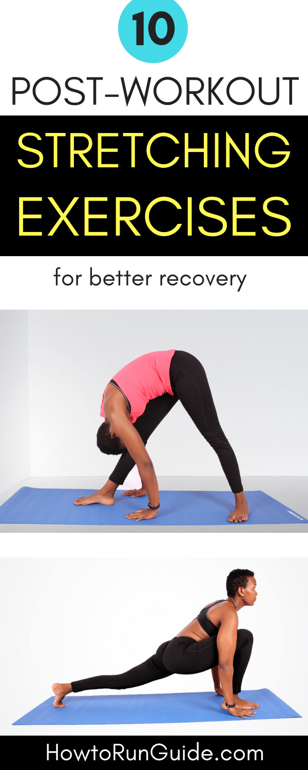Do these 10 stretching exercises that aid in muscle recovery after workouts. Easy stretches, big impact. #stretching #stretches #stretchingexercises