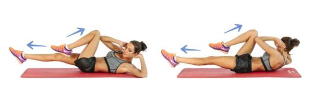 Abs Workout Routine - Bicycle Crunches