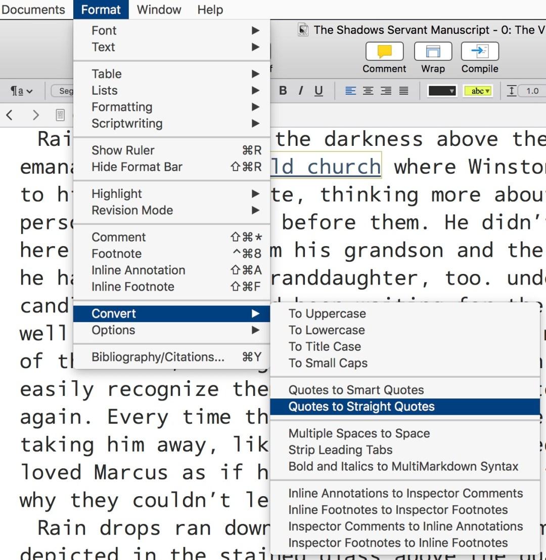 Fixing Scrivener's Backward Quotation Marks
