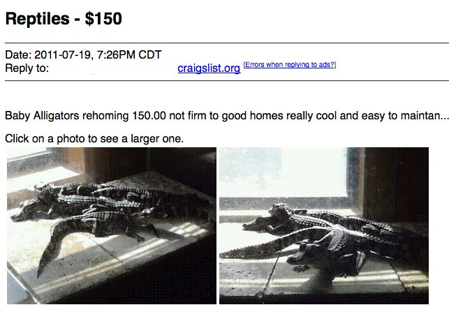 Check Out These Odd and Strange Craigslist Ads with Photos
