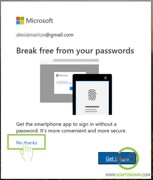 Break free from microsoft passwords