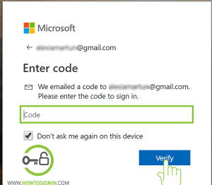 verify hotmail account ownership