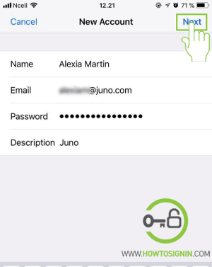 Juno mail for iPhone