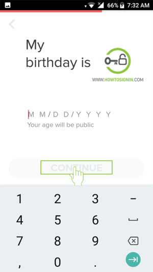 tinder sign up date of birth