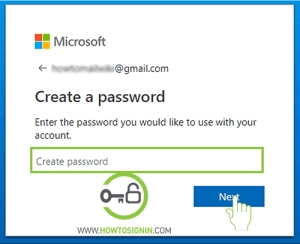 create password for skype sign up