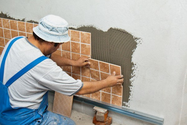 Image result for Installing tiles on a wall