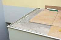 Tile Edge Trim Installation - Tile Design Ideas