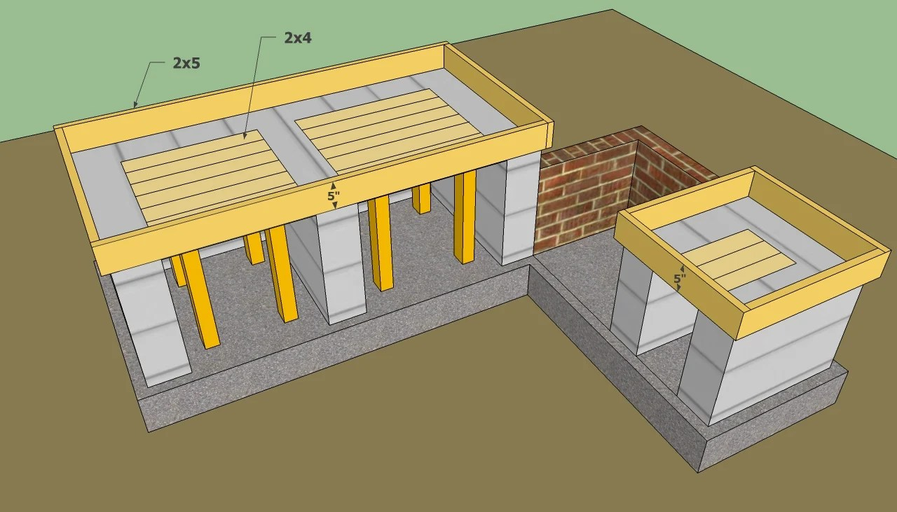 outdoor kitchen design plans free small table and chairs for two howtospecialist how to build step by