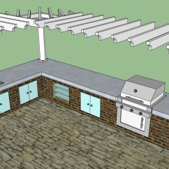 Diy Outdoor Kitchen Plans Metal Shelving Howtospecialist How To Build Step By Kits