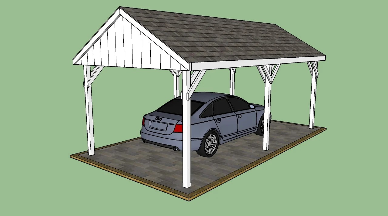 Free Carport Plans Howtospecialist How To Build Step By Step