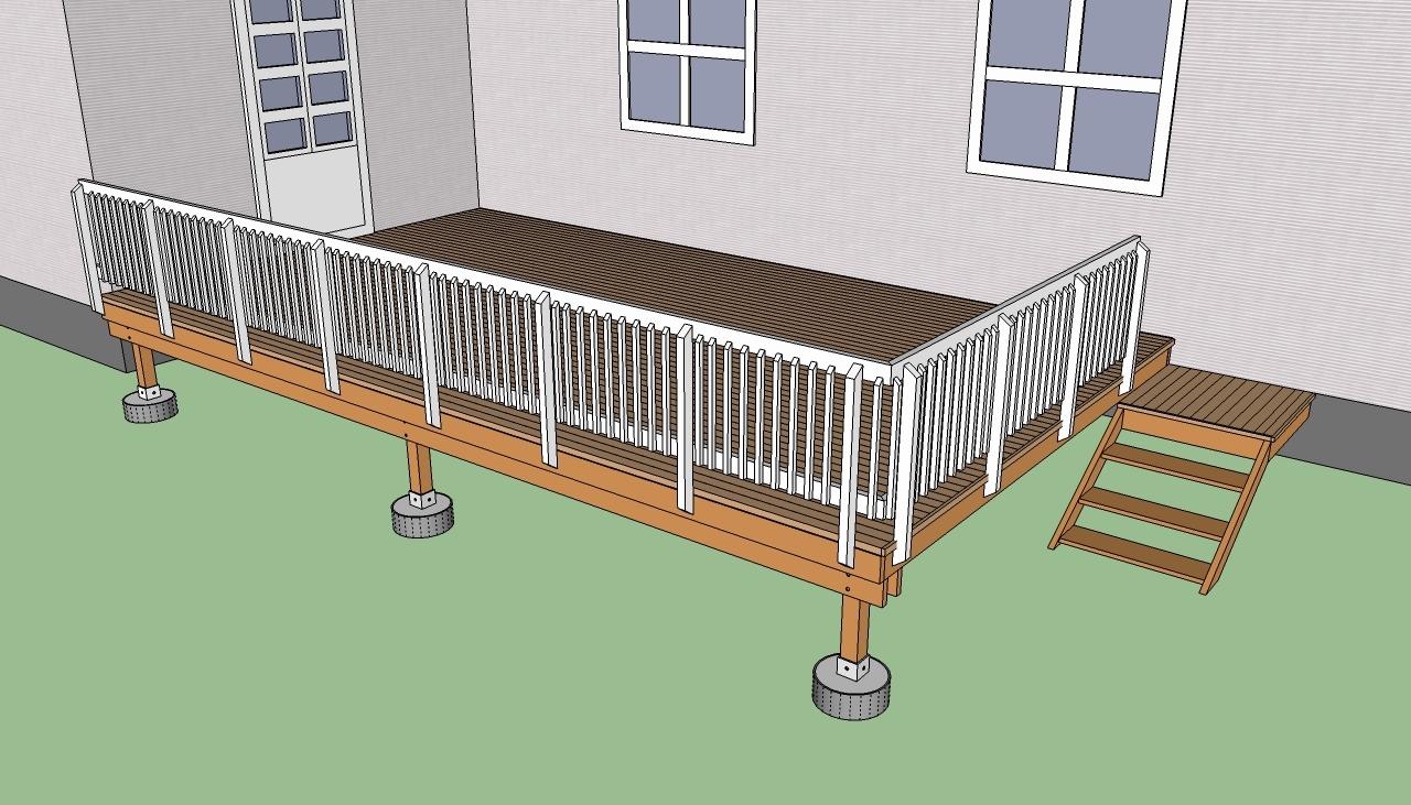 outdoor swing chair with stand black parson covers how to build a deck on the ground | howtospecialist - build, step by diy plans