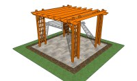 Attached pergola plans | HowToSpecialist - How to Build ...