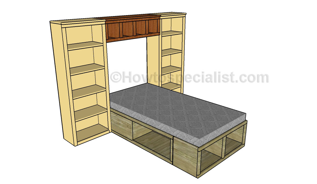 Corner Bed Hutch Plans Howtospecialist How To Build