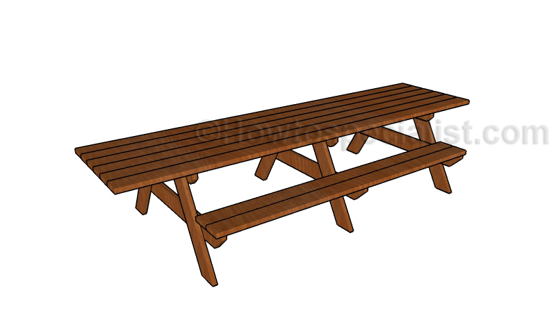 12 Foot Picnic Table