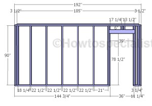 Shed Plans with Garage Door Plans | HowToSpecialist  How to Build, Step by Step DIY Plans