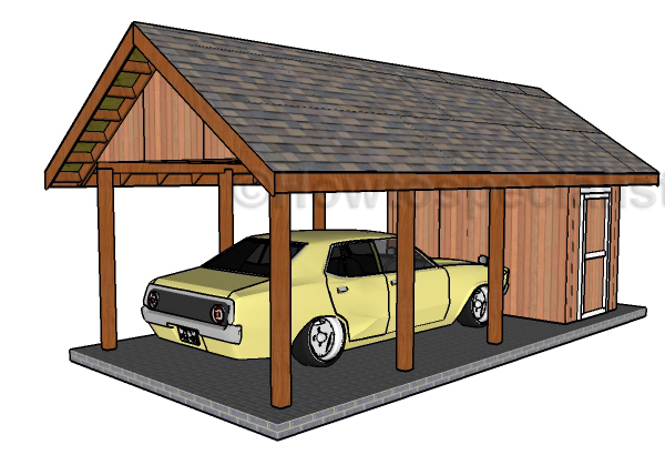 Carport With Storage Plans Howtospecialist How To Build Step