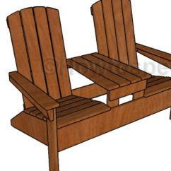 Adirondack Chair Blueprints Ikea Ingolf Covers Double With Table Plans Howtospecialist How To Bench