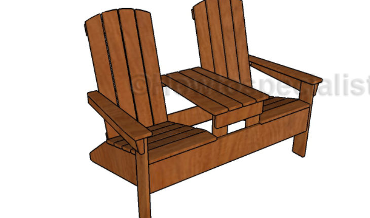 double rocking adirondack chair plans grey dining chairs uk with table howtospecialist how to bench