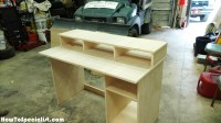 DIY Computer Desk with Partition   HowToSpecialist - How ...