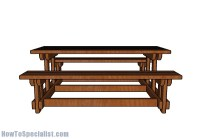 6 Foot Picnic Table with Benches Plans | HowToSpecialist ...