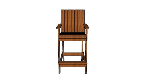 Bar Height Adirondack Chair  Building Plans