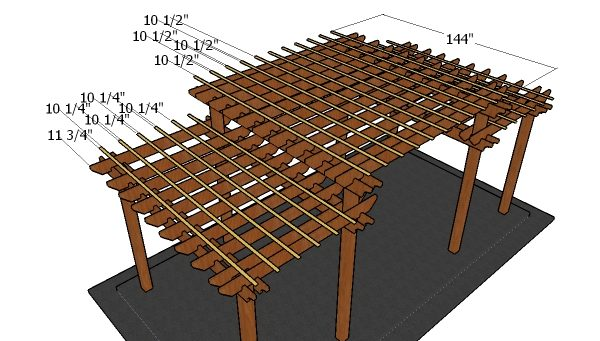 Tiered Pergola Plans Howtospecialist How To Build