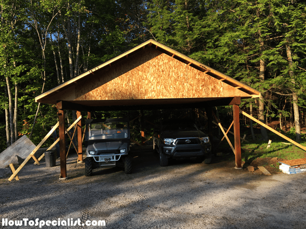 Diy Double Carport Howtospecialist How To Build Step By Step