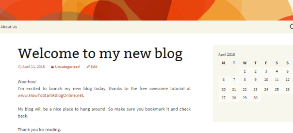 View your new blog