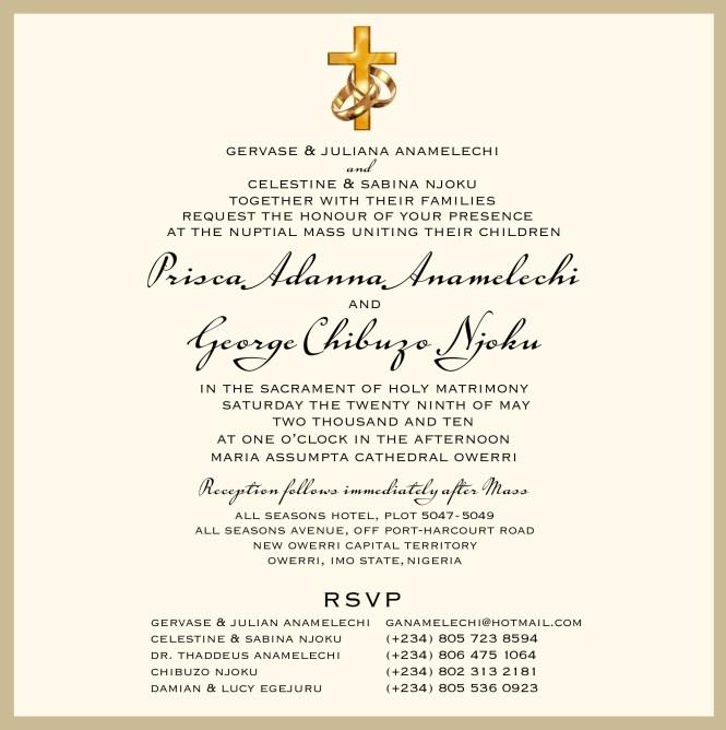 Wedding Invitation Templates Nigeria Template Ideas