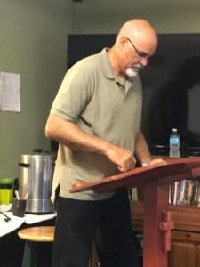 Alan teaching at Divinity