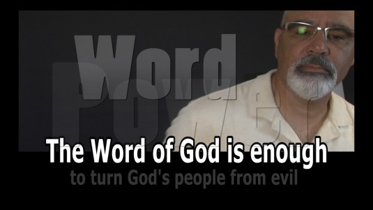 The Word of God is enough video promo picture