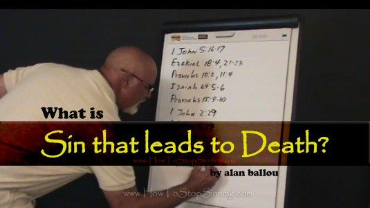 What is sin that lead to death