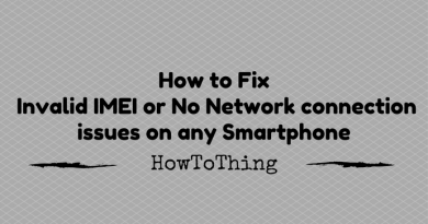 Fix IMEI or No Network