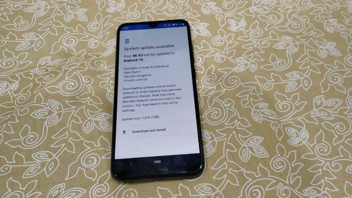 Xiaomi Mi A3 Update