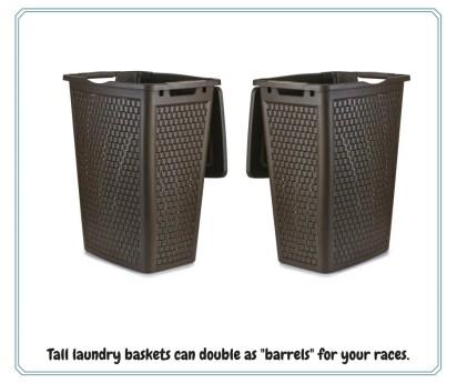 Tall laundry baskets