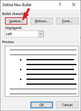 Select the Symbol... button