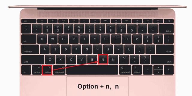 Spanish n with tilde shortcut on Mac keyboard