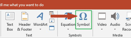 Button to launch more symbol dialog box in PowerPoint
