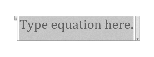 type square root symbol using equation
