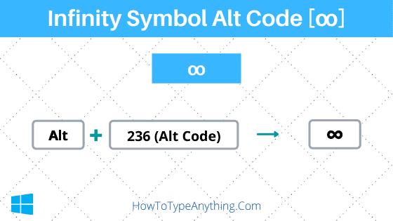 Infinity Symbol Alt Code