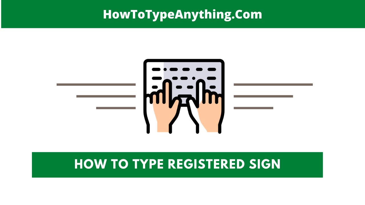 type registered sign