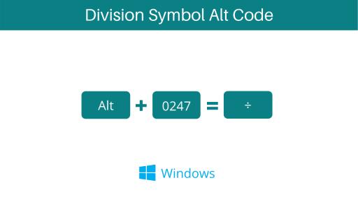 division symbol alt code