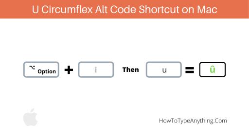 u circumflex alt code for Mac