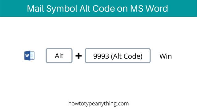 Envelope or mail sign alt code