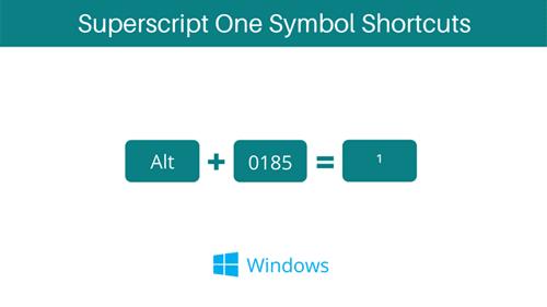 superscript 1 Symbol Alt Code