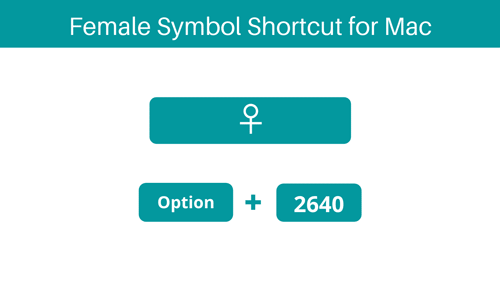 Female sign Shortcut for Mac