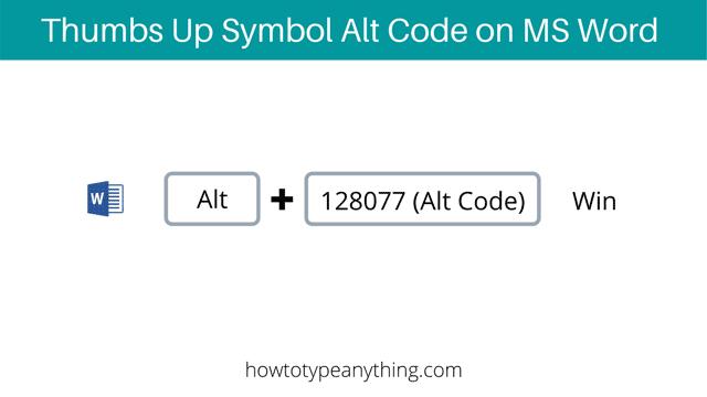 the Thumbs Up symbol alt code shortcut