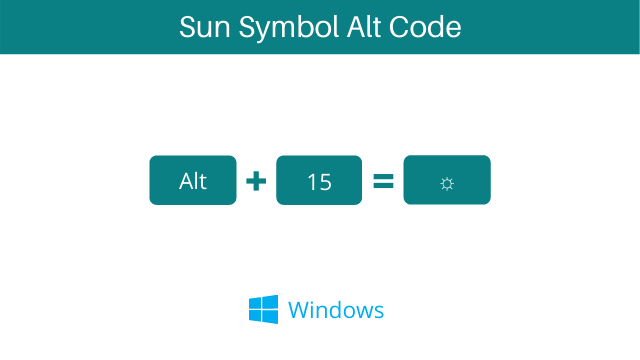 sun symbol alt code